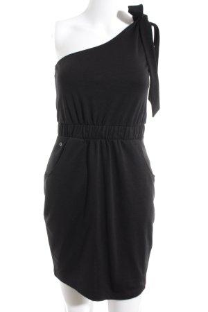 edc by Esprit One-Shoulder-Kleid schwarz Casual-Look