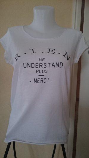 Edc by Esprit Oversize Shirt T-Shirt Gr S weiß