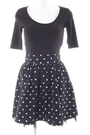 edc by Esprit Robe avec jupon noir-blanc motif de tache style décontracté