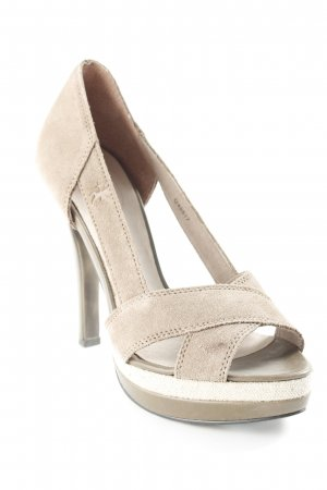 edc by Esprit Plateau-Pumps beige Party-Look
