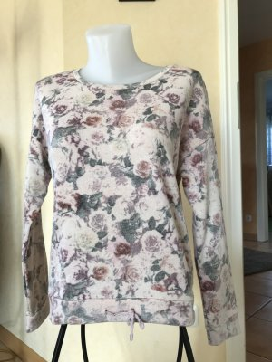 Edc by Esprit Pullover Gr S Nude Rosa mit Blumenmuster