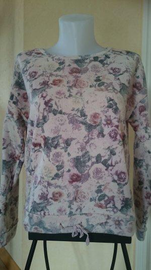 Edc by Esprit Pullover Gr S Nude Rosa mit Blumenmuster