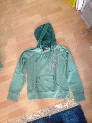 EDC by Esprit Pullover grün mit Steinchen in Größe XL