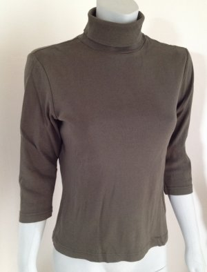EDC by ESPRIT Rollkragenshirt Unterziehshirt Basic-Shirt 3/4 Arm, L, Khaki grün