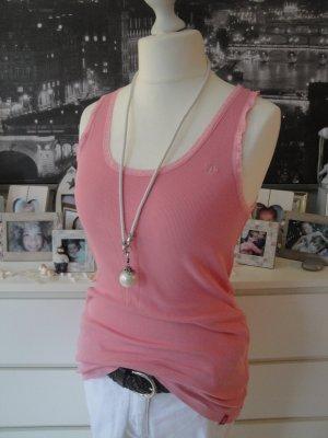 Edc by Esprit * %SALE % Süßes Ripp Tank-Top * rosa Spitze * XL=40/42 NEU