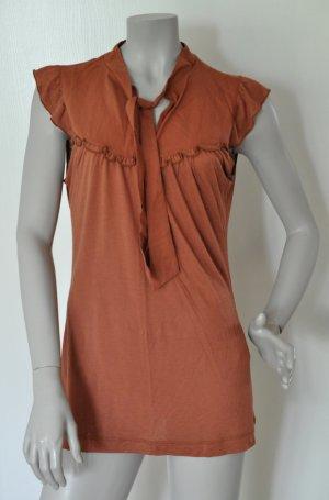 edc by Esprit Tie-neck Blouse russet-brown red mixture fibre