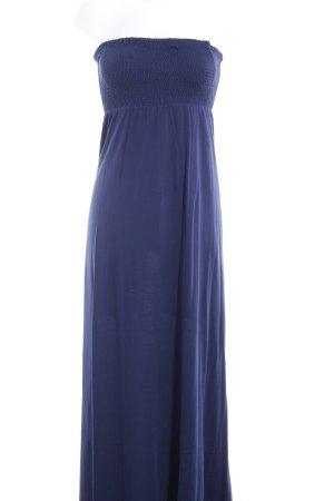 edc by Esprit schulterfreies Kleid dunkelblau schlichter Stil