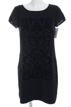 edc by Esprit Shirtkleid schwarz abstrakter Druck Casual-Look