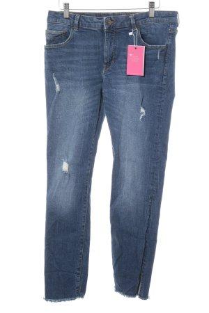 edc by Esprit Skinny Jeans blau Destroy-Optik