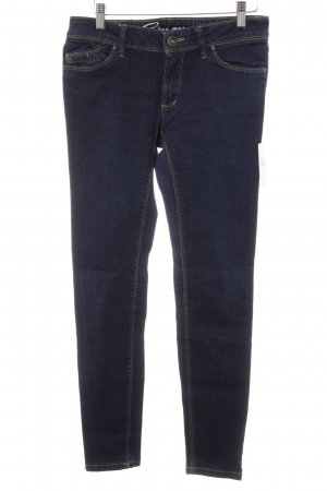 edc by Esprit Skinny Jeans dunkelblau-hellorange Casual-Look