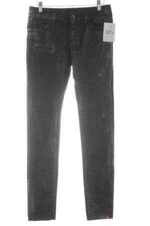 edc by Esprit Skinny Jeans goldfarben-dunkelblau Farbverlauf Casual-Look