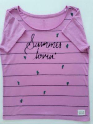 edc by ESPRIT Sommer Shirt in Lila Fliederton S/M 36/38 NEU
