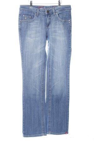 edc by Esprit Jeans met rechte pijpen blauw casual uitstraling