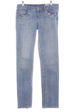 edc by Esprit Straight-Leg Jeans blau Bleached-Optik