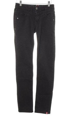 edc by Esprit Jeans met rechte pijpen zwart casual uitstraling