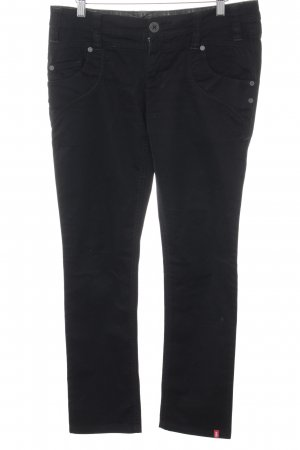 edc by Esprit Straight-Leg Jeans schwarz Webmuster Casual-Look