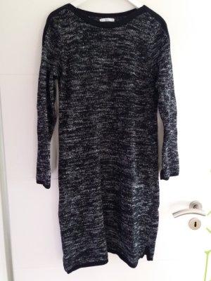 edc by Esprit Strickkleid Longpullover Kleid Gr. XL 42 wie neu schwarz weiß meliert Pullover