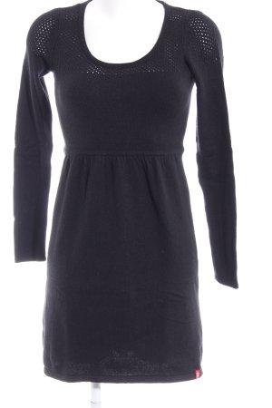 edc by Esprit Gebreide jurk zwart casual uitstraling