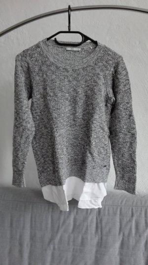 Edc by Esprit Strickpullover grau meliert weiß XS 34 Pullover