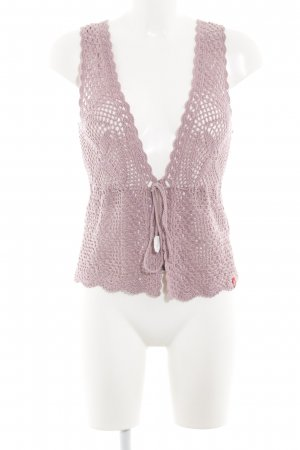 edc by Esprit Chaleco de punto rosa Patrón de tejido look Street-Style