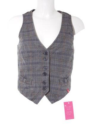 edc by Esprit Knitted Vest grey glen check pattern Brit look