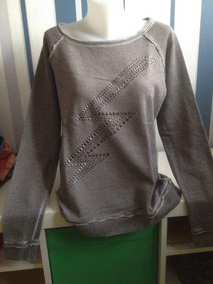 Edc by Esprit Sweatshirt Gr M Pullover in used optik Grau mit Nieten