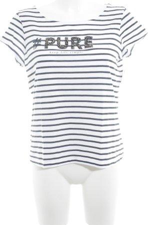 edc by Esprit T-Shirt schwarz-weiß Schriftzug gedruckt sportlicher Stil