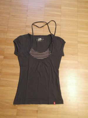 EDC by Esprit T-Shirt Top 2in1 Layer-Look Gr. XS Baumwolle Top Zustand