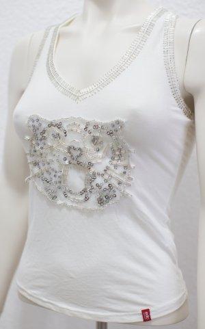 Esprit Top línea A blanco puro-blanco