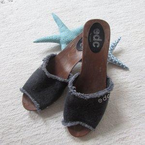 Esprit Heel Pantolettes grey-silver-colored