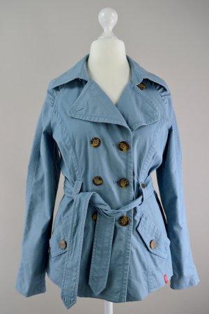 edc by Esprit Trench Coat kurz blau Größe M 1707160620747