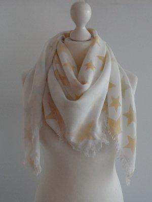 EDC by ESPRIT Tuch Weiß mit Sternen wenig getragen