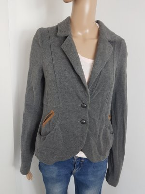 EDC by Esprit Tweed Blazer Jacket Sweatjacke Cardigan grau Größe M