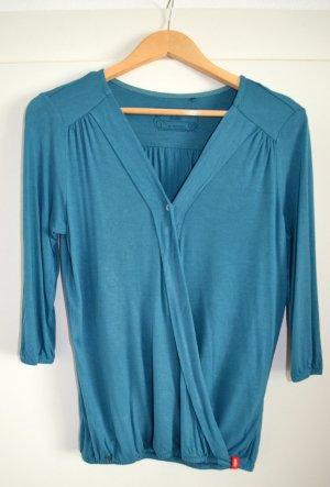 EDC by ESPRIT Viscose Blusen Shirt Longsleeve, petrol, kaum getr. XS wie S/36
