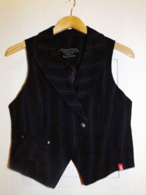 Edc Esprit Gilet de costume noir-gris anthracite