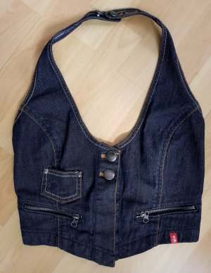 edc by Esprit Denim Vest dark blue