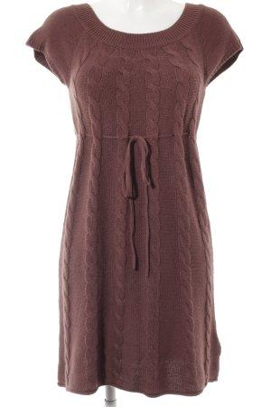 edc by Esprit Vestito di lana marrone-rosso stile casual