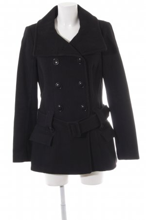 edc Heavy Pea Coat black