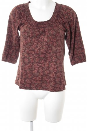 edc Carmen Blouse russet-brown abstract pattern street-fashion look