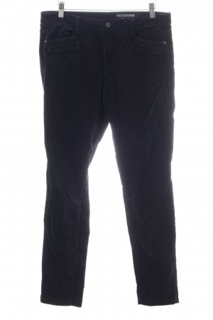 edc Pantalone di velluto a coste nero stile professionale