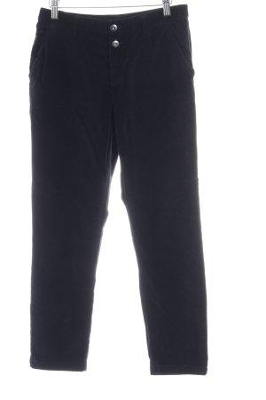 edc Pantalone di velluto a coste blu scuro look vintage