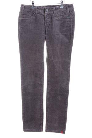 edc Corduroy Trousers light grey casual look