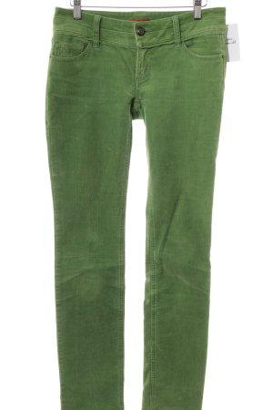 edc Pantalone di velluto a coste verde prato stile casual