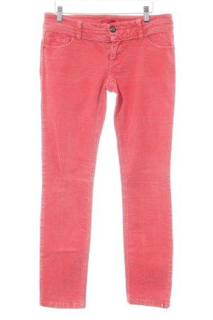 edc Pantalon en velours côtelé rouge clair style des années 90