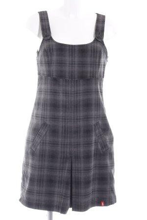edc Robe empire gris-noir motif à carreaux style décontracté