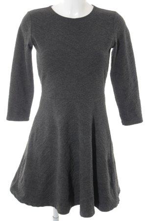 Edc Esprit A-Linien Kleid anthrazit Steppmuster Casual-Look