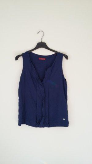 Edc Esprit, ärmelloses Blusenshirt, dunkelblau, Gr.M, weicher Stoff