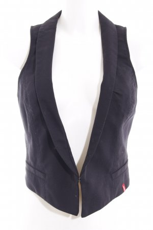 Edc Esprit Waistcoat black business style