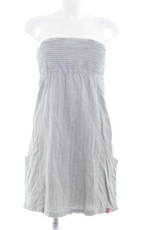 Edc Esprit Vestido bandeau gris claro-gris estampado de zigzag look casual