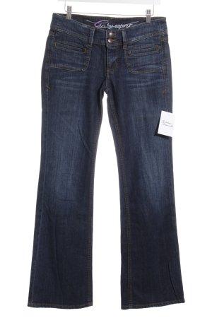 Edc Esprit Boot Cut Jeans dunkelblau klassischer Stil